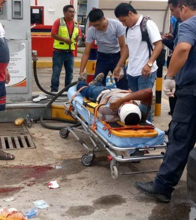 Trabajador resulta herido al explotar un tanque de gas en mal estado, en Chetumal