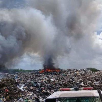 NUEVO INCENDIO EN BASURERO DE CHETUMAL: Atribuyen a fallas en el manejo de residuos los constantes siniestros en el tiradero de la capital de QR
