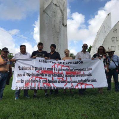 Periodistas de Cancún se unen para exigir garantías, respeto a la libertad de expresión y protección