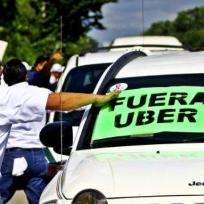 """""""NO PUEDEN ENTRAR Y, SI ENTRAN, SE LES HARÁ VALER LA LEY"""": Advierten taxistas estrategia ante el inminente reinicio de operaciones de Uber en Cancún"""