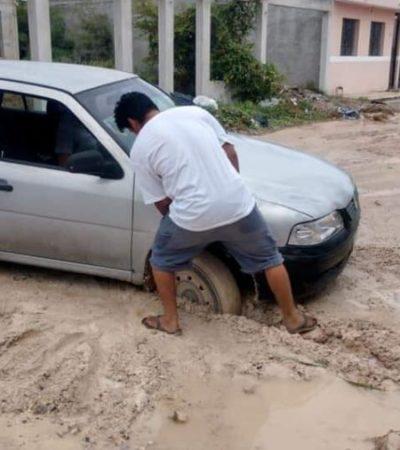 Habitantes de Chetumal se quejan por destrucción de calles por parte de CAPA