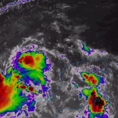 Continuarán las lluvias durante el día por presencia de baja presión en el sur del Golfo de México