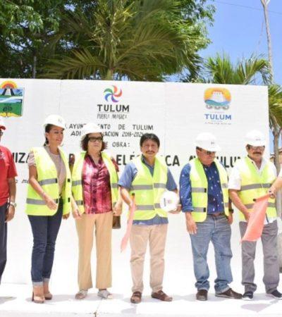 """""""Obra de modernización eléctrica en Tulum es para brindar mayor seguridad y mejorar la imagen turística"""", asegura Víctor Mas"""