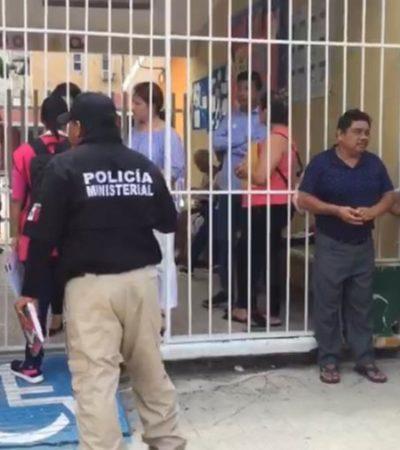 """ROBAN BOLETAS ELECTORALES EN CANCÚN: Sujetos armados se llevan boletas en blanco de una casilla en la escuela primaria """"Kabah""""; autoridades despliegan operativo para dar con los responsables"""
