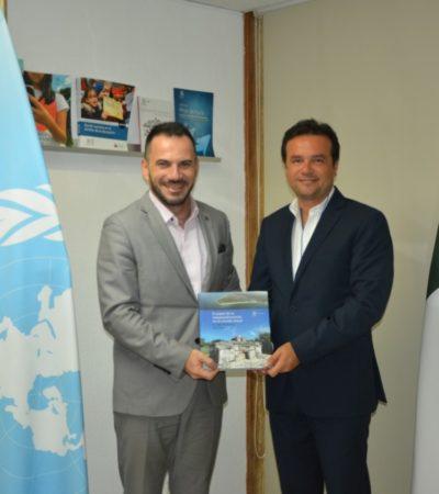 Se reúne Pedro Joaquín con representante de la Unesco en México