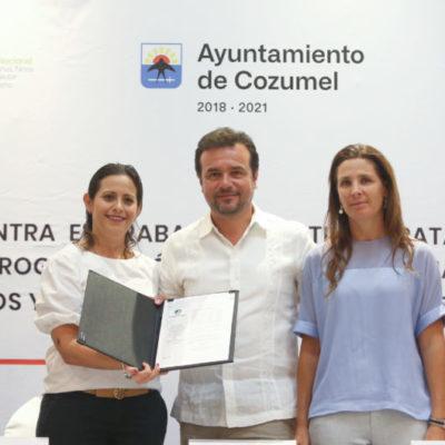 """Gobierno de Cozumel pone en marcha la """"Cruzada Municipal contra el Trabajo Infantil y la Trata de Personas"""""""