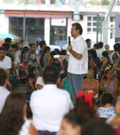 "Pedro Joaquín encabeza la caravana ""Podemos Juntos"" para acercar servicios y apoyos a cozumeleños"