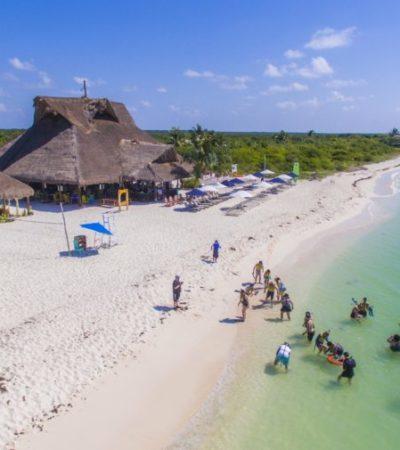 Turistas arriban a Cozumel en busca de playas limpias, seguridad y belleza natural durante temporada vacacional