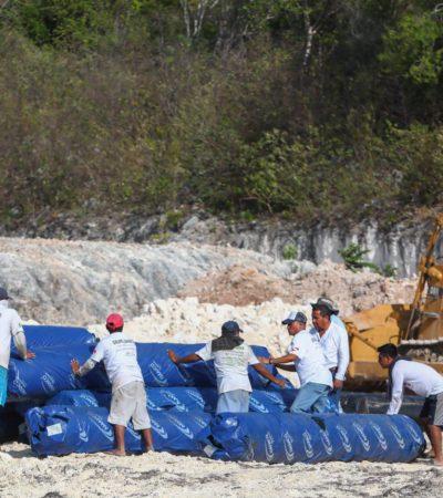 Puerto Morelos, primer municipio de México con geomembranas para el depósito del sargazo