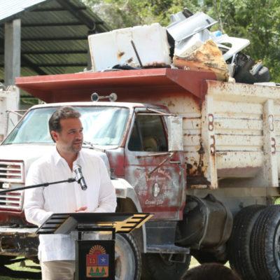 Supervisa Pedro Joaquín el cierre de la campaña de descacharrización que se realizó en 35 colonias de Cozumel