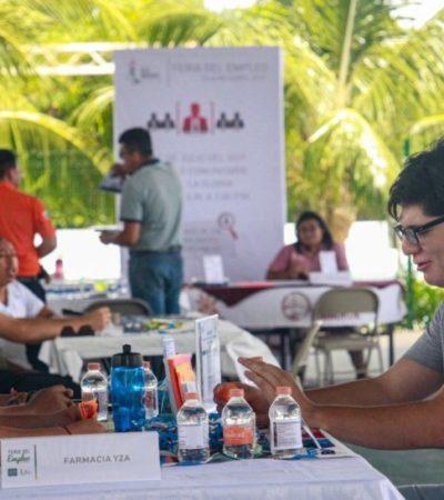 Ofertan más de cien vacantes en la Primera Feria del Empleo en Isla Mujeres