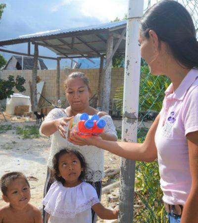 Concluye el DIF la entrega de tres mil sueros rehidratantes en Isla Mujeres