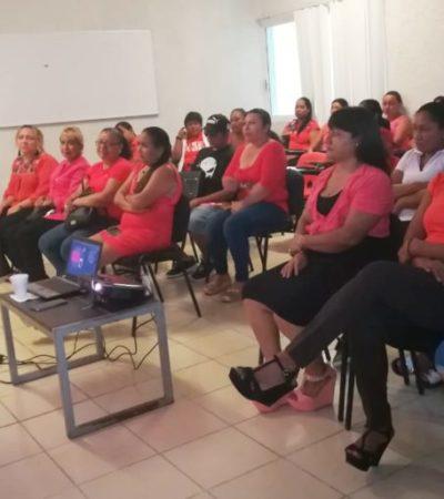 """Imparten el taller """"Violencia de Género: Mitos y Realidades"""" que busca concientizar a la población de Isla Mujeres"""