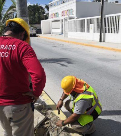 Gobierno de Isla Mujeres continúa rehabilitando el servicio de alumbrado público