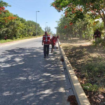Mantienen brigadas de limpieza para la buena imagen del municipio de Isla Mujeres