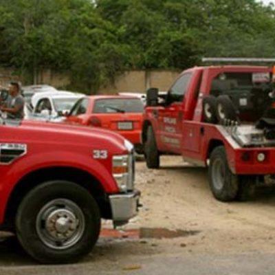 Esperan definir tarifario para grúas en Cancún antes de que termine el mes