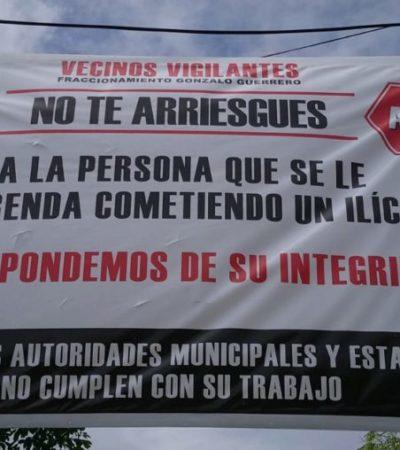 Recomiendan a vecinos de Cancún no tomar la justicia por sus propias manos porque es un delito