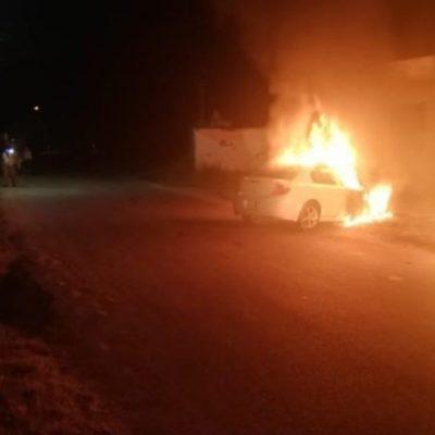VIERNES ARDIENTE EN TABASCO: Incendian dos autos y abandonan cuerpo embolsado