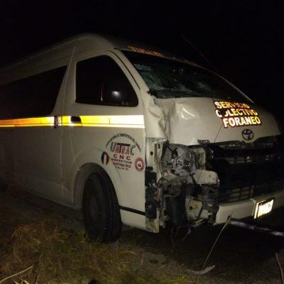 Muere peatón arrollado por una van de la Untrac en carretera Playa-Tulum