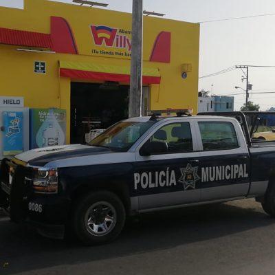 Asaltan tienda en Chetumal; uno de los presuntos ladrones sería esposo de policía