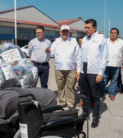 Entrega el Servicio de Administración y Enajenación de Bienes ayuda humanitaria a 35 municipios de Chiapas