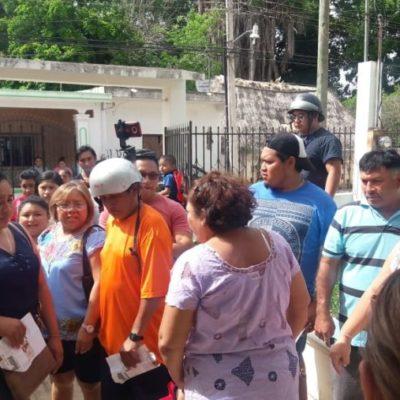 Protestan ciudadanos de José María Morelos contra abusivos cobros de CFE