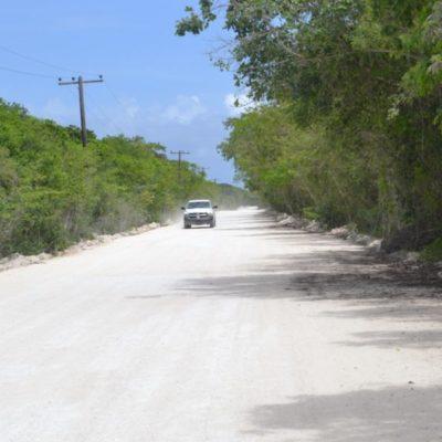 Por reclamos de ambientalistas cancelan pavimentación del camino a la Laguna Ciega