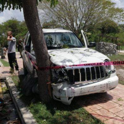 Extranjero en estado de ebriedad provoca accidente y daños mayores a medio millón de pesos en Playa del Carmen