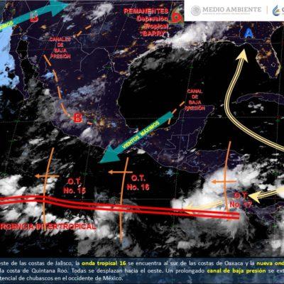 PRONÓSTICO DEL CLIMA: 'Barry' se disipará mañana por completo