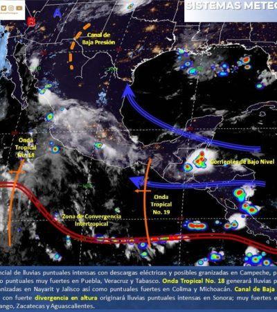 PRONÓSTICO DEL CLIMA: Continúa el calor en Quintana Roo, con posibilidades de lluvias en el sur