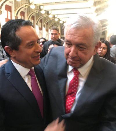 """Tras reunirse con el Presidente, anticipa Gobernador """"buenos planes y proyectos"""" para Quintana Roo"""