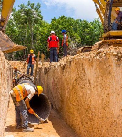 Aguakan inicia trabajos de sustitución de red de agua potable en el centro de Cancún