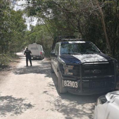 Hallan cadáver decapitado en camino de terracería cerca de Puerto Aventuras
