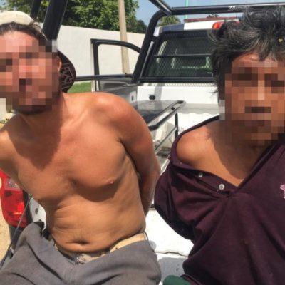 Detienen a dos sujetos cuando asaltaban una tortillería en Chetumal