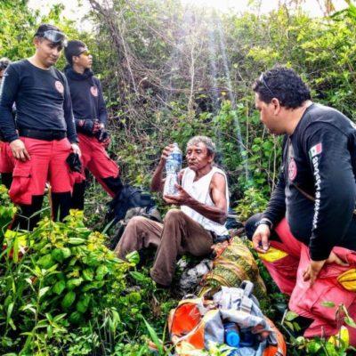 Equipos de rescate y voluntarios hallan a hombre que se había extraviado en la selva de Leona Vicario