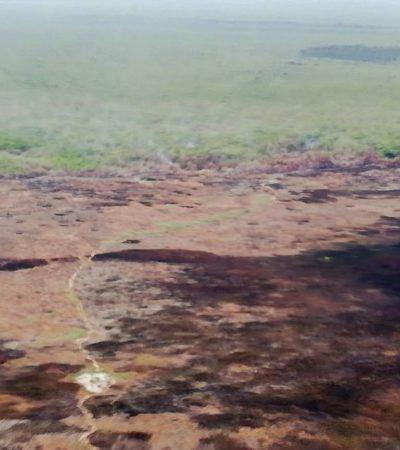 Incendio en Sian Ka'an, sofocado en 85%