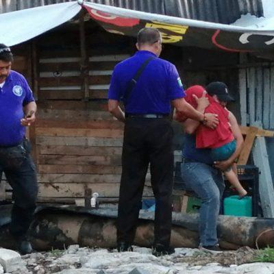 GEAVI rescata a niño de cuatro años que era maltratado en la SM 235 de Cancún