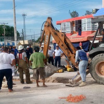 TRAGEDIA EN UNA CALLE DE CHETUMAL: Mueren tres trabajadores en obras de CAPA en la capital de QR