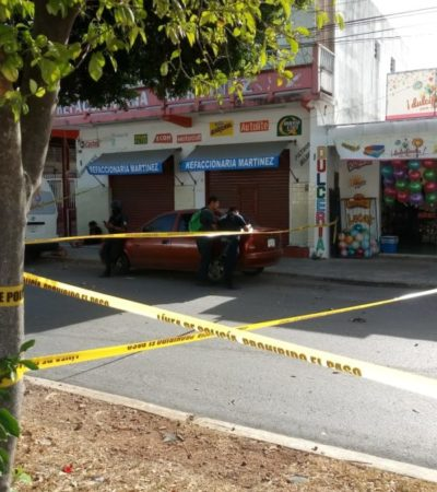 Detienen a hombre que agredió y lesionó con una botella a la encargada de una dulcería en Chetumal