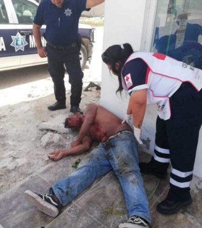 Sujetos asaltan y golpean brutalmente a un albañil en la colonia El Pedregal, en Playa del Carmen