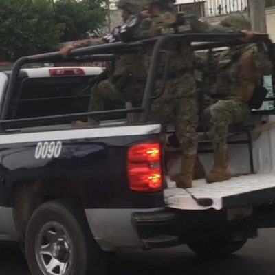 Recorre la Guardia Nacional calles de Chetumal
