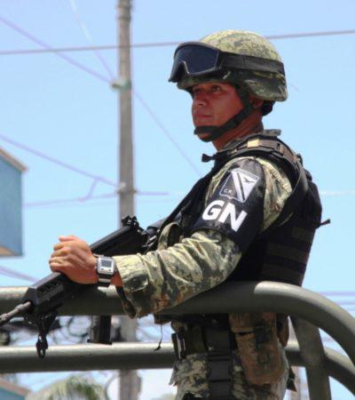 Ya recorre la Guardia Nacional calles de Playa del Carmen
