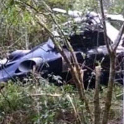 Mueren funcionarios del gobierno de Michoacán al desplomarse el helicóptero en que viajaban