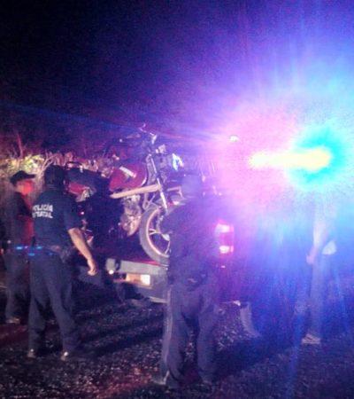 Accidente de moto deja lesionadoscerca de Sacalaca