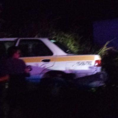 Provoca taxista accidente en Chetumal