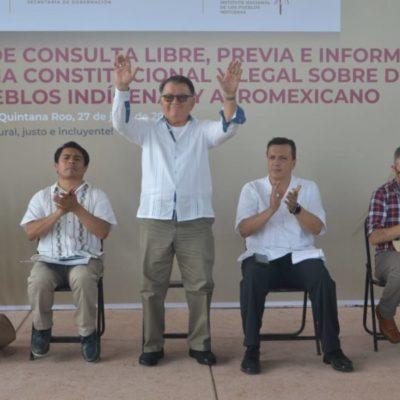 Arturo Abreu pide al pueblo maya permanecer unido durante el Foro de Consulta Nacional en Felipe Carrillo Puerto