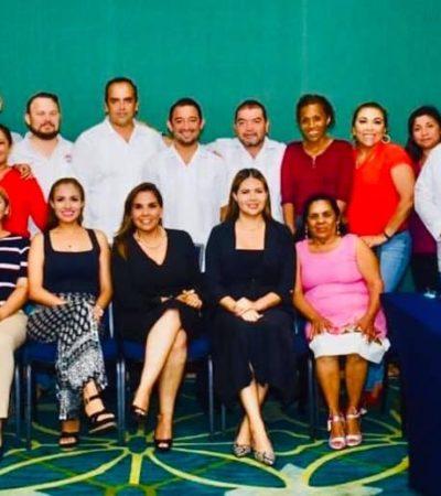 Para conformar agenda legislativa, se reúnen diputados locales electos de Morena, PVEM y PT con Mara Lezama