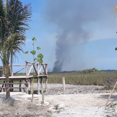 REPORTAN OTRO INCENDIO DENTRO DE SIAN KA'AN: Nueva conflagración surge en un área a Muyil donde el fuego ya consumió alrededor de 3 mil hectáreas