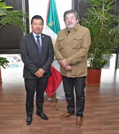 Jesús Pool se reúne con Rogelio Jiménez Pons para gestionar que el Tren Maya cuente con estación de pasajeros en Chetumal