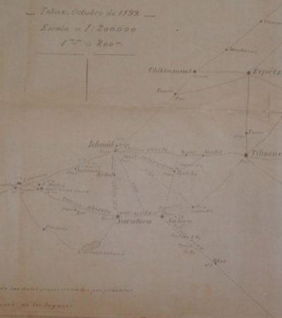 Hacia el aniversario del inicio de la Guerra de Castas:Un croquis de 1899 trazado por Miguel Medina Ayora | Por Gilberto Avilez Tax